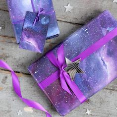 Galaxy Print Wrapping Paper Space Gift Wrap by ThumbsUpX2