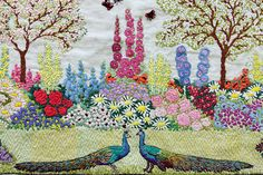 Vintage Home - Amazing Handsewn 1930s Embroidery.