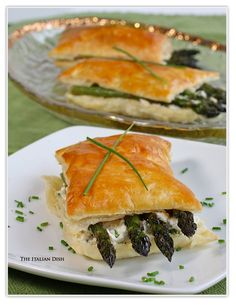 Asparagus Napoleons with Goat Cheese, Chives and Lemon Zest from The Italian Dish.  drooool.