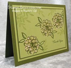 Fabulous Thank You card designed using the 3-step stamping set What I Love (2016 Sale-A-Bration) with the bleach technique. Provides a WOW factor! All products exclusively by Stampin' Up!