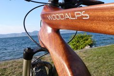 Woodalps & Leman lake Wooden Bicycle, Wood Bike, Bicycles, Bike Stuff, Construction, Sports, Veil, Bicycle Design, Cycling