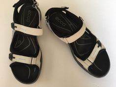 ECCO RECEPTOR All Terrain Womens Sandal Shoes Sz 41 USA 10 Leather Sport  Sandal