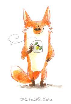 Der neue Fuchs. 2016 Illustration von Frau Annika; www.frauannika.de