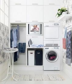 20 Inspirations Pour Aménager Une Buanderie. Ikea Laundry RoomLaundry Room  CabinetsClothes ... Part 54