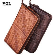 Find More Wallets Information about VGL Luxury Brand Knitting Pattern Mens Wallet Leather Genuine Male…
