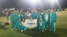 Compañeros en Cali. Fotos del desfile inaugural de los Juegos Deportivos para Funcionarios anoche, éxitos.