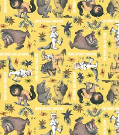 Licensed Cotton Fabric Where The Wild Things Are Monster
