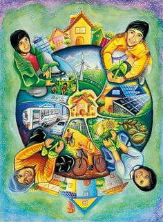 Art Village, Energy Conservation Poster, Save Water Poster Drawing, Earth Drawings, Drawing Competition, Environment Painting, Composition Art, School Painting, Oil Pastel Drawings