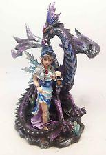 Fairyland Legends Fairy with Lantern and Dragon Decoration Figurine Statue SALE