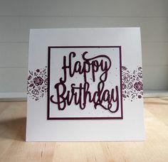 Stampin Up Geburtstagskarte mit Stanzform Happy Birthday www.ilonasstempelhaus.de