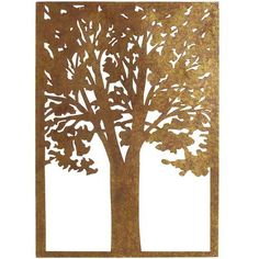Golden Tree Wall Panel