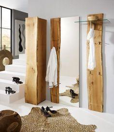 Elegant Hochschrank mit T r Woodline Eiche massiv ge lt Massivholzm bel online kaufen woodu