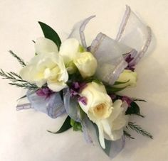 White Wrist Corsage Weddings and Prom