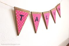 "That's My Letter: ""T"" is for Triangle Wood Banner & Quilt"