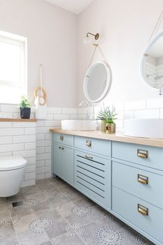 Cozy Bathroom, Bathroom Kids, Small Bathroom, Bathroom Interior Design, Kitchen Interior, Home Decor Kitchen, Kitchen Design, Bathroom Furniture, Bathroom Inspiration