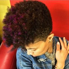 I love the hair color Tapered natural hair Natural Hair Cuts, Natural Hair Styles, Natural Mohawk, Locs, Tapered Afro, Tapered Sides, My Hairstyle, Natural Hair Inspiration, Hair Journey