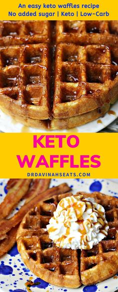 Recipes Waffles Want an easy keto waffles recipe that tastes fluffy on the inside and slightly crisp on the outside? These low carb almond flour waffles are DELICIOUS! Plus, they are prepared in less than 20 minutes. Perfect for brunch & kid-approved. Keto Diet Breakfast, Breakfast Recipes, Dessert Recipes, Breakfast Casserole, Breakfast Gravy, Breakfast Ideas, Breakfast Cups, Breakfast Pancakes, Sausage Breakfast