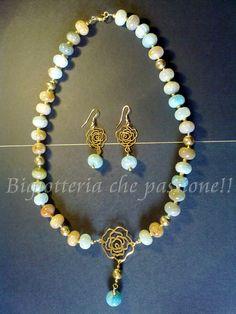 Collana con agata multicolor by Bigiotteria che Passione!!