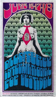 The Monterey International Pop Music Festival was a three-day concert event held June 16 to June 18, 1967, (46 years ago) at the Monterey County Fairgrounds in Monterey, California. Monterey was the first widely promoted and heavily attended rock festival, attracting an estimated 55,000 total attendees with up to 90,000 people present at the event's peak at midnight on Sunday.