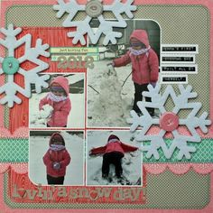 Lovin' A Snow Day! Layout by Kim Holmes via Jillibean Soup Blog