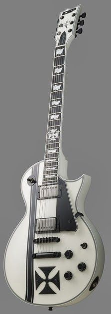ESP James Hetfield(Metallica) Iron Cross in Snow White finish