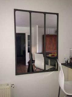 miroir indus en m tal l 180 cm cargo verri re maisons du monde atelier bureau pinterest. Black Bedroom Furniture Sets. Home Design Ideas