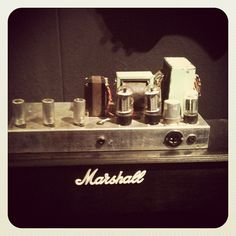 The very 1st Marshall amp, backstage at Hard Rock Calling, London, England. Photo by hardrockmusic - Instagram.    For more guitar related articles, check out www.guitarjar.co.uk