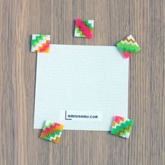 Colorful perler bead magnets by  Leminussieu