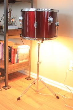 Percussion Drum Upcycled Table Floor Lamp by TheSalvagedBoutique