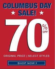 Columbus Weekend Sale - 70% off Original Price + 30% Off Everything Else. on DealsAlbum.com