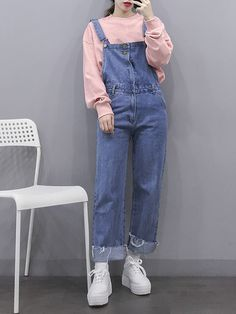 Dungarees Outfits, Overalls, Retro, Asian Fashion, Winter Outfits, Style Me, Street Style, Photoshoot, Fashion Outfits