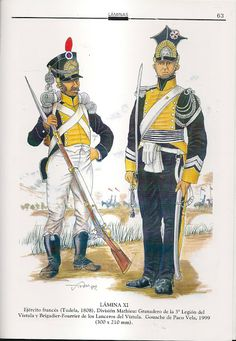 The Vistula Legion, Napoleon's Polish allies, ca. 1808 in the Peninsula.    (MINIATURAS MILITARES POR ALFONS CÀNOVAS)