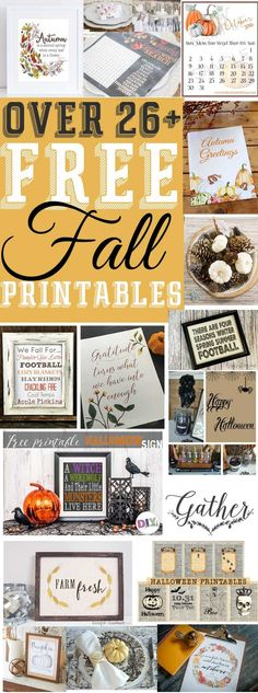 Over 26+ free fall,halloween, and thanksgiving printables to display in your holiday home this year! The Mountain View CottageThe Mountain View Cottage