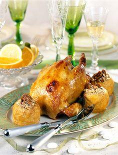Amennyiben a szárnyashús mellett voksolsz karácsonykor is, próbáld ki naranccsal és borral megbolondított kacsasültünket! Turkey, Fish, Chicken, Main Courses, Diet, Main Course Dishes, Entrees, Turkey Country, Ichthys
