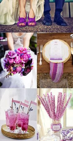 Radiant Orchid Wedding-Pantone's 2014 color of the year, Radiant Orchid! We are loving that the color is radiant, who doesn't like radiant? Such a fun playful color that packs a lot of punch. | Lucky in Love Wedding Planning Blog | banquet event
