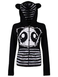 From the cute but deadly brand Killer Panda, this gorgeous hoodie will soon become a wardrobe staple. Featuring adorable little ears on it's hood, a panda print on the front and corset detailing on it's back, this hoodie has it all and is sure to capture your imagination.