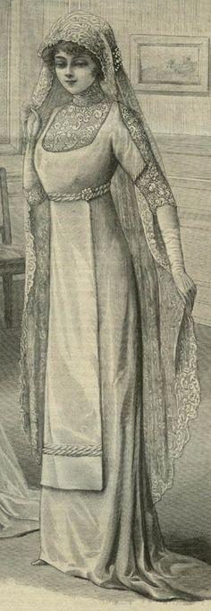 Jan 1911 Wedding Dress. Inspiration for Catharine's wedding dress.