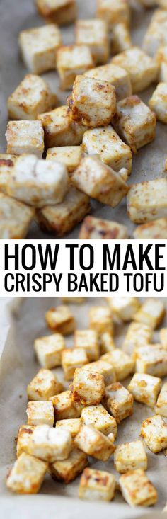 How to make crispy baked tofu! You don't need to deep fry tofu to make it crispy! Try this fool proof recipe for crispy baked tofu, vegan and gluten-free. Delicious on it's own or added to any dish you like. #tofu #glutenfree #vegan #vegetarian #healthy #soy #bakedtofu #crispytofu www.delishknowledge.com