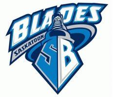 Saskatoon Blades Primary Logo on Chris Creamer's Sports Logos Page - SportsLogos. A virtual museum of sports logos, uniforms and historical items. Hockey Logos, Hockey Teams, Sports Logos, Canada Hockey, Team Mascots, O Canada, Great Logos, Raiders, Nhl