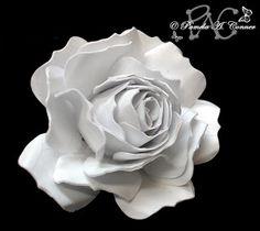 šablona pro papírovou růži