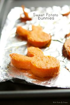 Sweet potato bunnies... making healthy choices with those Easter cookie cutters!