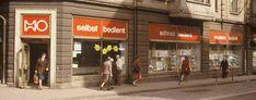 """In der DDR gab es zwei große Handelsketten, die Konsumgenossenschaft, im Volksmund """"Konsum"""" und die Handelsorganisation, im Volksmund """"HO"""". Zu beiden Organisationen gehörten neben Verkaufsstellen auch Gaststätten. Größere Geschäfte, wie Kaufhallen, wurden ebenfalls von beiden Organisationen betrieben. /  HO – Lebensmittelgeschäft in Eisenach (Quelle: Gerald Syring)"""
