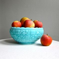 #Fenton #vintage bowl on #etsy must have in gorgeous blue glass. I want this so bad.