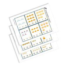 KiddyBlocks | Označ množství - Koruny Bullet Journal, Printables, Print Templates