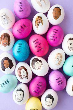 DIY Celebrity Easter Eggs | studiodiy.com