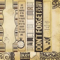 Simple Stories - Documented Collection - 12 x 12 Double Sided Paper - Border and Title Strip Elements at Scrapbook.com $1.09