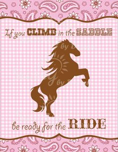Cowgirl printable welcome sign by Sunnybydesign on Etsy, $4.00
