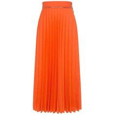 Karen Walker - SOLAR FLARE PLEATED Midi SKIRT ($231) ❤ liked on Polyvore featuring skirts, midi circle skirt, flared midi skirt, knee length flared skirts, midi skirt and knee length pleated skirt