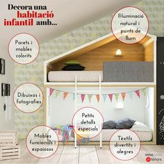 Consells: com decorar una habitació infantil?  Els més petits de la casa es mereixen un bon #interiorisme a la seva habitació! Què et semblen aquests consells? N'afegiries algun més?