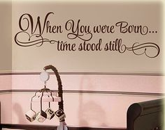 In These Moments...Time stood still  vinyl wall quote